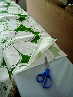 great tutorial for making curtains out of flat sheets  - I want to try it...
