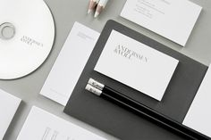 Anderssen & Voll identity by Martin Stousland, via Behance