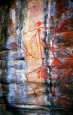 """Aboriginal Rock Art, Kakadu National Park - click inside to learn about the """"Best of Australia"""" Ancient Aliens, Ancient Art, Ancient History, Kunst Der Aborigines, Alien Artifacts, Kakadu National Park, Aboriginal Painting, Art Ancien, Art Antique"""