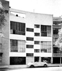 Apartment Building by Luis Barragan y Max Cetto 1939. Condesa, Mexico City