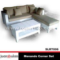 Menando Sofa L Corner Set Rotan Sintetis SLRT006 copy