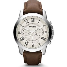 FOSSIL Grant Chronograph Watch | Leather