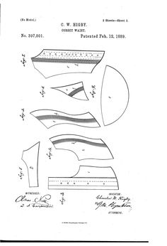 Patent US397801 - Corset-waist - 1889 - Google Patents