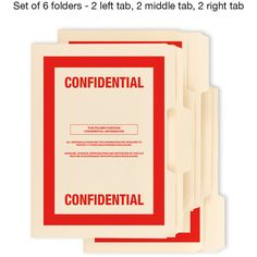 6 Pack CONFIDENTIAL top secret classified file folders cia fbi nsa kgb... ($12) ❤ liked on Polyvore featuring home, home decor and inspirational home decor
