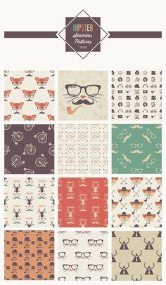hipster-seamless-patterns