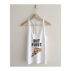But First Pizza Women's Racerback Tank Top