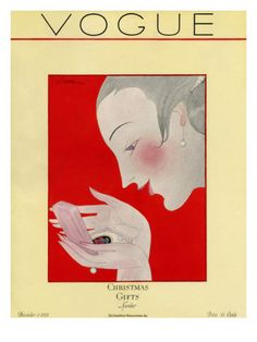 Vogue Cover - December 1923 Poster Print  by Georges Lepape at the Condé Nast Collection