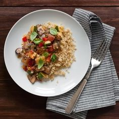 Midsummer Ratatouille on Quinoa