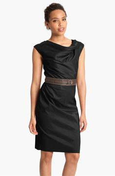 fbae70ef4e1e Suzi Chin for Maggy Boutique Asymmetrical Neck Belted Sheath Dress