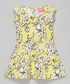 Loving this Yellow Floral Cap-Sleeve Dress - Infant & Toddler on #zulily! #zulilyfinds