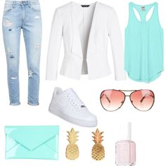 Untitled #2 by hms-hms on Polyvore featuring polyvore fashion style Victoria's Secret PINK White House Black Market Paige Denim NIKE Tiffany & Co. Michael Kors Essie