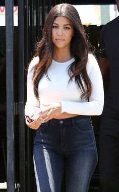 Kourtney Kardashian Steps Out in Midriff-Baring Top Amid Scott Disick Partying Reports   E! Online Mobile