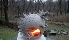 Gary's third pottery blog: fire breathing dragon....love it! Smaller scale in polymer clay for tealights? Hmmmm.....
