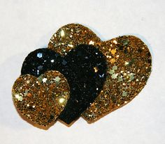 Glitter Hearts Hair Clip Accessory by Cutie by CutieDynamite, $17.00