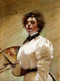 Self-Portrait With Palette, 1906, Alice Pike Barney