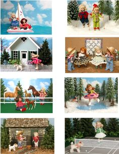 Vintage Ginny Doll 'Sports' Greeting Cards