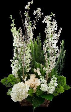 Order Serenity Garden - from Winston Flowers, your local Boston florist. For fresh and fast flower delivery throughout Boston, MA area. Unique Flower Arrangements, Ikebana Flower Arrangement, Funeral Flower Arrangements, Funeral Flowers, Types Of Flowers, Fresh Flowers, Winston Flowers, Serenity Garden, Funeral Sprays