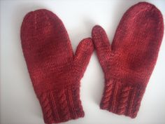 Girls and Ladies Mittens #101 pattern by Nell Armstrong