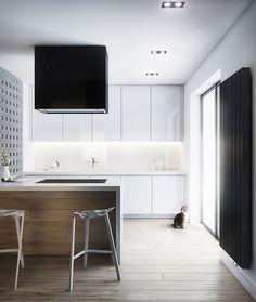 white high gloss modern kitchen