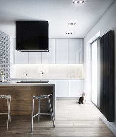 white high gloss modern kitchen