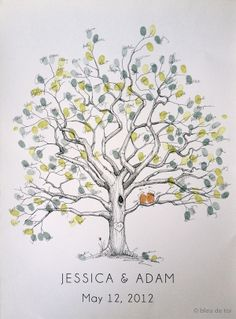 a thumb print tree of all who prayed for Asa