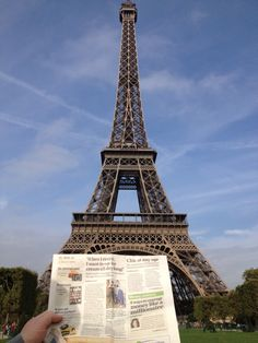 The Trib visited the Eiffel Tower in Paris!