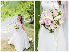 Married in Rome GA country wedding outdoor couple pose long veil grassy field love blue pink bride groom bridesmaid www.bbcphotography.com