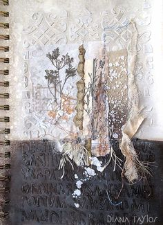 Winter Garden sketchbook page by Velvet Moth Studio