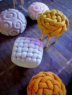 funky knit ottomans - Claire-Anne O'Brien