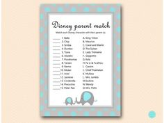 Games Of Baby Showers ~ Disney themed baby shower games baby shower games disney babies
