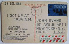 I got up at, On Kawara, 1968-1969