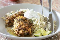 Chicken  and samosa