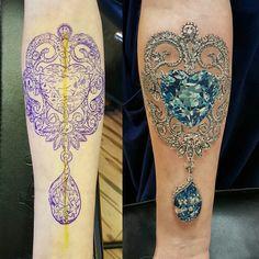 Jewerly tattoo designs diamonds New Ideas Juwel Tattoo, Tattoo Hals, Lace Tattoo, Cover Tattoo, Tattoo Bird, Tattoo Neck, Tattoo Music, Neue Tattoos, Body Art Tattoos