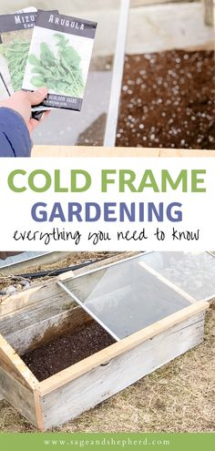 Everything you need to know about starting with cold frame gardening! Cold frame gardening means you can plant earlier in the spring and later in the fall! Starting A Vegetable Garden, Vegetable Garden For Beginners, Gardening For Beginners, Gardening Tips, Cold Frame Gardening, Homestead Gardens, Garden Pests, Hobby Farms, Small Farm