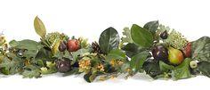 Magnolia Pinecone Pomegranate  Garland (GG04): Magnolia Pinecone Pomegranate, Burgundy Green, Garland,6'