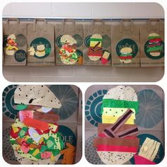My 3rd graders had a blast crafting burger collages inspired by Claes Oldenburg! #claesoldenburg #popart #collage #recycling #wholefoodsmarket
