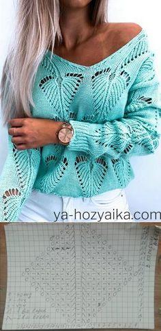 Lace Knitting Stitches, Knitting Paterns, Chrochet, Knit Crochet, Pullover Sweaters, Cardigans, Stitch Patterns, Knitwear, Diy Crafts