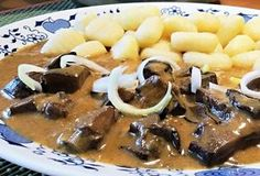 Houby na smetaně po maďarsku Stew, Acai Bowl, Macaroni And Cheese, Beans, Fruit, Vegetables, Cooking, Breakfast, Health