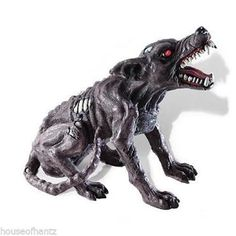 Zombie Dog Lights and Sound Skeleton Walking Dead Bones Prop Halloween Graveyard