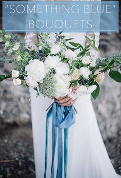 "There's no better way to have ""something blue"" than to put it in your bouquet! 