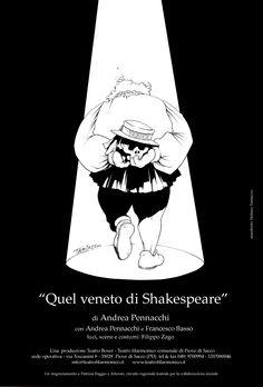 """Quel veneto di Shakespeare"" an Andrea Pennacchi's Play. A Teatro Boxer production. Art poster: Stefano tamiazzo #stefanotamiazzo #poster #illustration"