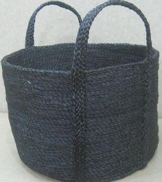 Rimi Jute Basket (Medium) - Charcoal