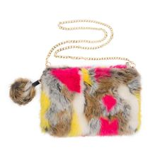 Fun Faux Fur Clutch | Everyday Carry Items, Pom Pom Decorations, Hand Ring, Mink Fur, Fur Pom Pom, Baggage, Pu Leather, Faux Fur, Coin Purse