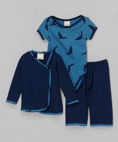 This Indigo Dolphin Organic Bodysuit Set - Infant & Toddler by Kids Organic is perfect! #zulilyfinds
