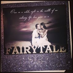 Fairytale. Wedding scrapbook page <3 wedding scrapbooking. DIY