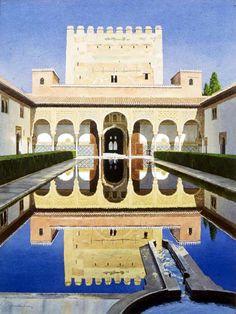 Patio de los Arrayanes (Alhambra de Granada). Obra de José González Bueno