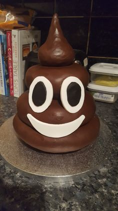 Poop Emoji Shaped Cake Birthday Cake Custom Customcake