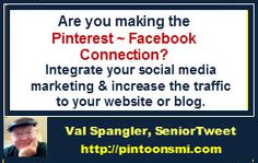 #Pintoons #Pinterest Are you making the Pinterest~Facebook connection? Integrate your social media & increase your traffic. pintoonsmi.com