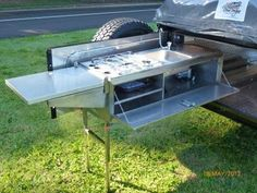 Camper trailer is a motor vehicle with space and equipment for sleeping and simple maintenance, used for camping and leisure travel that can be towed by any kind of vehicle. Off Road Camper Trailer, Trailer Build, Truck Camper, Camper Trailers, Camper Van, Expedition Trailer, Overland Trailer, Jeep Camping, Van Camping