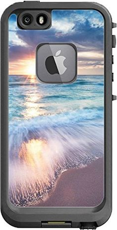 Beautiful Sunset At The Sea Pattern Design Print Image Lifeproof Fre iPhone 6 Vinyl Decal Sticker Skin by Trendy Accessories available at https://www.amazon.com/dp/B01EVY2IK0 #vinyldecals #decals #iphone #ip6 #apple #sunset #beach #sea #tadesigns